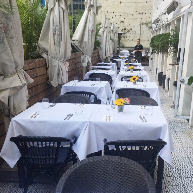 Terrace Tables Valentines Day Set up